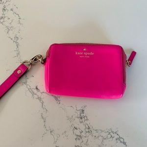 Kate Spade Hot Pink Wristlet